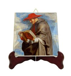 Saint Bonaventure of Bagnoregio - icon on tile - catholic saints serie - St Bonaventure - saints art - saint icon - patron saint