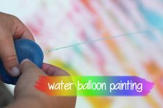 Water Balloon Painting - Repeat Crafter Me Winter Fun, Summer Fun, Summer Ideas, Summer Time, Art For Kids, Crafts For Kids, Baby Crafts, Repeat Crafter Me, Balloon Painting