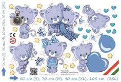Cicás matrica, babaszoba matrica, cicák, kék cicás falmatrica kisfiú gyerekszoba Snoopy, Fictional Characters, Fantasy Characters