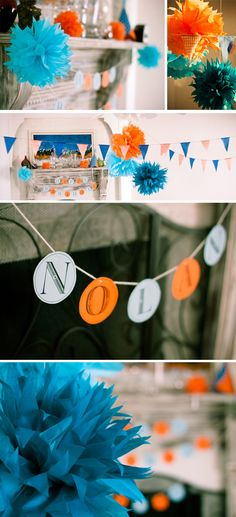 pennants, love these colors for a party!