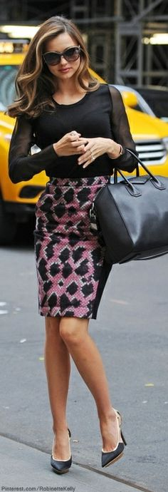 Street Style | Miranda Kerr LBV | More outfits like this on the Stylekick app! Download at http://app.stylekick.com