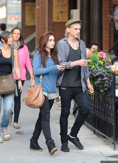 lily collins and jamie campbell bower the mortal instruments on set photos | ... bones , jamie campbell bower , lily collins , the mortal instruments