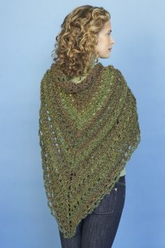 Splendid Triangle Shawl - knit pattern - when I get really good with my new knook maybe I can make it.