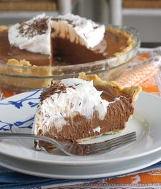 Chocolate French Silk Pie. Looks just like the ones you find at Perkins! And just as unhealthy... :/