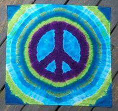 ☮ American Hippie Art ☮ Tie Dye peace sign
