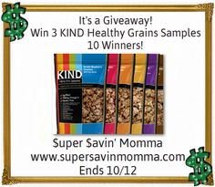 GIVEAWAY $$ Win 3 KIND Healthy Grains Oats & Honey Clusters With Toasted Coconut Samples – 10 Winners!