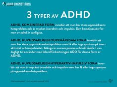 Anhorigutbildning-ADHD6 Adhd And Autism, Add Adhd, Helping Children, Aspergers, Dyslexia, Occupational Therapy, For Your Health, Note To Self, How To Know