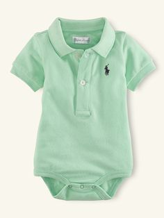 Short-Sleeved Polo Bodysuit - Tops & Bottoms   Layette Boy (Newborn-9M) - RalphLauren.com