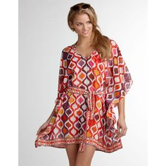 loving this beach dress (i refuse to call it a caftan) as a swim cover-up