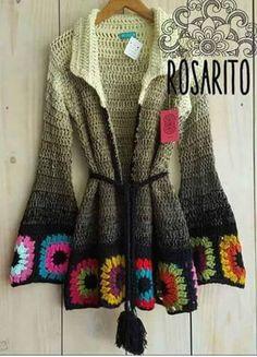 Crochet Hooded Baby Cardigan Making - Sevdiğim Örgüler - Sweaters Gilet Crochet, Crochet Baby Cardigan, Crochet Coat, Crochet Jacket, Crochet Shawl, Crochet Clothes, Moda Crochet, Crochet Granny, Hippie Crochet