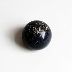MODERN BLACK CHARCOAL AND GOLD LEAF DOME SOAP