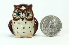 Miniature ceramic Owl, figurine | ceracrafts - Dolls & Miniatures on ArtFire