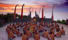 things to do in Bali - Uluwatu Fire & Kekak Dance at sunset atop the Uluwatu cliffs and Uluwatu templw