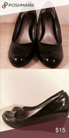 CL Black Wedged Heels Open to negotiating the price! Chinese Laundry Shoes Heels