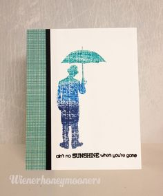 Tim Holtz man and umbrella stamp, missing you card, male, wienerhoneymooners