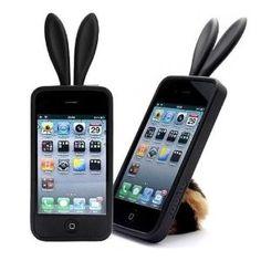 Bunny Rabit funda de silicona para IPhone 4.