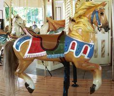 Outside Row Jumper 1904 Illions Carousel at Congress Park Saratoga Springs, NY  © Jean Bennett