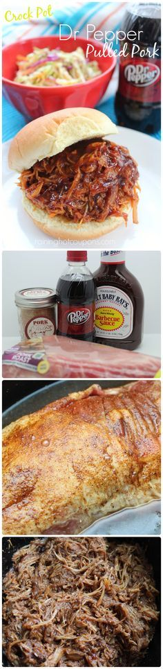 Crock Pot Dr. Pepper Pulled Pork: so good! This is the recipe I always use! :)