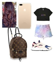 """😐😑😶🙄"" by pettyallthe on Polyvore featuring NIKE and Louis Vuitton"