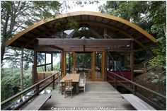 Felix Beach House by Carpinteria Estruturas de Madeira  #timber #structure #wood #estrutura #madeira