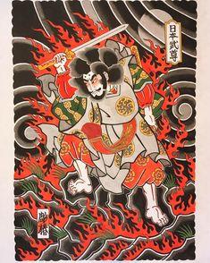 日本武尊 草薙の剣伝説 #日本武尊 #越前和紙 #彫椿