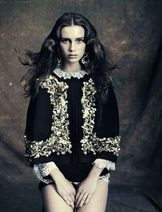 Marine Vacth photographed by Paolo Roversi for Vogue Italia (October 2012).