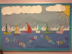 This Sailing Into A New Year! - Nautical Back-To-School Bulletin Board is just one of our many bulletin board ideas. We have thousands of fun and unique teaching ideas that are great for the classroom and at home!