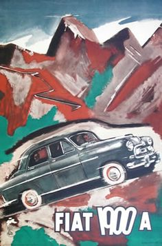 Sironi, Mario poster: Fiat 1900A #TuscanyAgriturismoGiratola