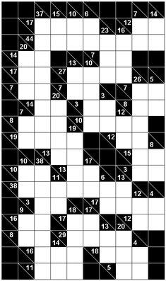 Number Logic Puzzles: 21535 - Kakuro size 6