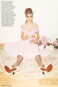 Cara Delevingne by Walter Pfeiffer for the September 2013 issue of British Vogue