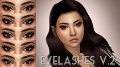 The sims 4 eyelashes by plumbobjuice Sims Four, Sims 4 Mm, Mods Sims 4, Sims 4 Cc Eyes, The Sims 4 Skin, Stem Challenge, Pelo Sims, Sims 4 Cc Makeup, Sims4 Clothes