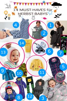 14 Must-Haves für dein Herbst-Baby