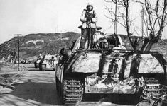"""mavitpzv: """"A column of Panzer V """"Panther"""" Ausf.G in Hungary in the autumn-winter the tanks should belong to the SS Panzer Division """"Totenkopf"""" or 5 SS Panzer Division """"Wiking"""" """" Mg 34, Military Armor, Armored Fighting Vehicle, Ww2 Tanks, Battle Tank, Native American History, Armored Vehicles, Panthers, Tanks"""