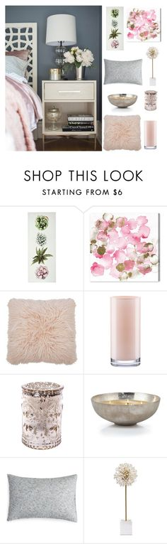 """""""Perfectly Pink"""" by loveartrecyclekardstock ❤ liked on Polyvore featuring interior, interiors, interior design, home, home decor, interior decorating, Oliver Gal Artist Co., M&Co, Kate Spade and Barbara Barry"""