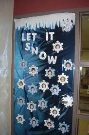 let it snow Christmas Classroom Door, Holiday Classrooms, Office Christmas, Winter Wonderland Theme, Winter Wonderland Christmas, Winter Theme, School Door Decorations, Christmas Door Decorations, Preschool Crafts