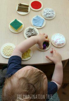 Baby play with DIY textured sensory mats