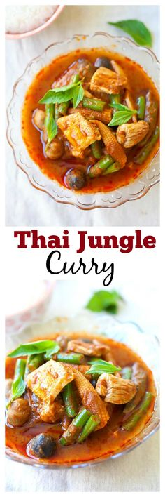 Thai Jungle curry is awesome during cooler months. You can make pork or chicken jungle curry with this easy recipe | rasamalaysia.com