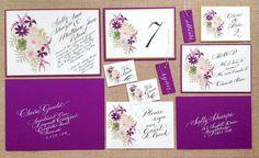 Watercolour wedding invitation collection