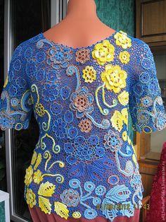 夏天玫瑰上衣 - 钩织乐趣 - 钩织乐趣的博客