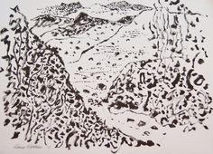 ink on paper © Guy Warren ~ Ecuador I ~ 2013 ink on paper at Olsen Irwin Gallery Sydney Australia