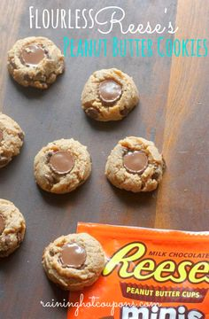 Flourless Reese's Peanut Butter Cookies - Raining Hot Coupons