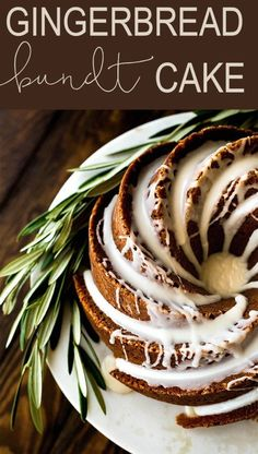 Gingerbread Bundt Cake is the perfect dessert for the holiday season. Topped with a maple glaze, this is one show-stopping dessert! Cupcake Recipes, Baking Recipes, Dessert Recipes, Fall Cake Recipes, Cinnamon Recipes, Snacks Recipes, Baking Ideas, Holiday Baking, Christmas Baking