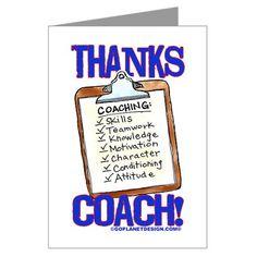 thank you coach card