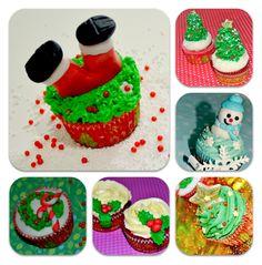 CURSO TALLER DE CUPCAKE CON MOTIVOS DE NAVIDAD : Pecaditos Dulces - Madrid - Cursos Cupcakes, cake pops, galletas decoradas, tartas de fondant