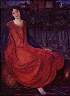 Girl and Goldfish - Edward Burne-Jones