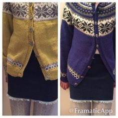 Nancy cardigans for the princesses, with home own designed jeans skirt