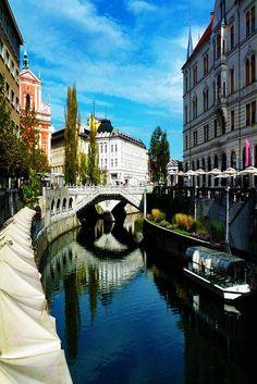 Ljubljana Old Town in Slovenia.