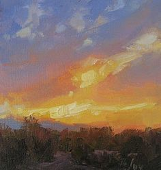 """Sunset 6""""x6"""" oil SOLD"""