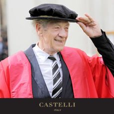 18th June - On this day: Actor, Ian McKellen is awarded an honorary degree by Cambridge University, becoming a Doctor of Letters 2014 (Source: Castelli 2018 corporate diary/2018 diaries feature facts every day)