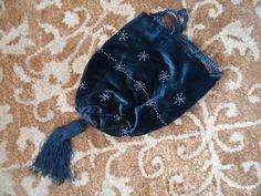 Réticule régence sac à main à la main de velours en soie